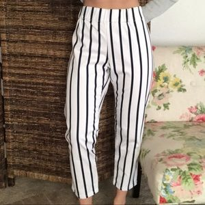 Soft Surroundings stripe pants, PM